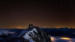 Kirchlein am Dobratsch unterm Sternenhimmel