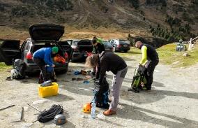 Hochtour auf die Wildspitze in den Oetztaler Alpen auf 3768 Meter am Wochende vom 12.Oktober 2014
