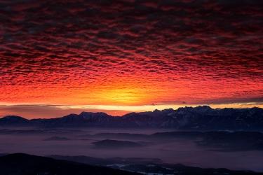 Sonnenaufgang von der Gerlitzen
