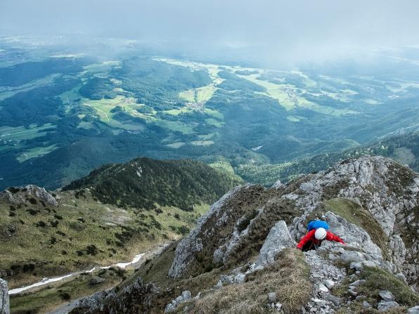 auf dem Weg zum Storžič Gipfel