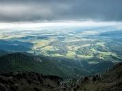auf dem Weg zum Storžič Gipfel mit Blick nach Slowenien